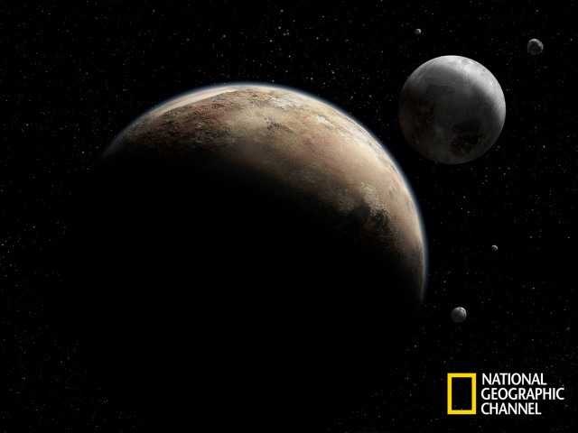 Artist's concept of Pluto and its moons. Credit: NASA/Johns Hopkins University Applied Physics Laboratory/Southwest Research Institute