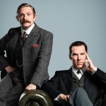EMBARGOED TO 0001 THURSDAY JULY 9  For use in UK, Ireland or Benelux countries only   BBC undated handout photo of Benedict Cumberbatch (right) and Martin Freeman dressed in period costume ahead of forthcoming Sherlock Special, made for BBC One by Hartswood Films. PRESS ASSOCIATION Photo. Issue date: Thursday July 9, 2015. They will be reunited in a special episode of the hit show, widely reported to involve a trip back in time to Victoria London, and three more episodes of a new series. See PA story SHOWBIZ Sherlock. Photo credit should read: Robert Viglasky/Hartswood Films/BBC/PA Wire  NOTE TO EDITORS: Not for use more than 21 days after issue. You may use this picture without charge only for the purpose of publicising or reporting on current BBC programming, personnel or other BBC output or activity within 21 days of issue. Any use after that time MUST be cleared through BBC Picture Publicity. Please credit the image to the BBC and any named photographer or independent programme maker, as described in the caption.