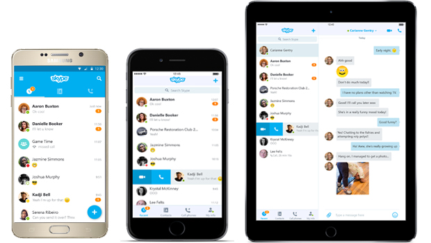 SKYPE update ios and android