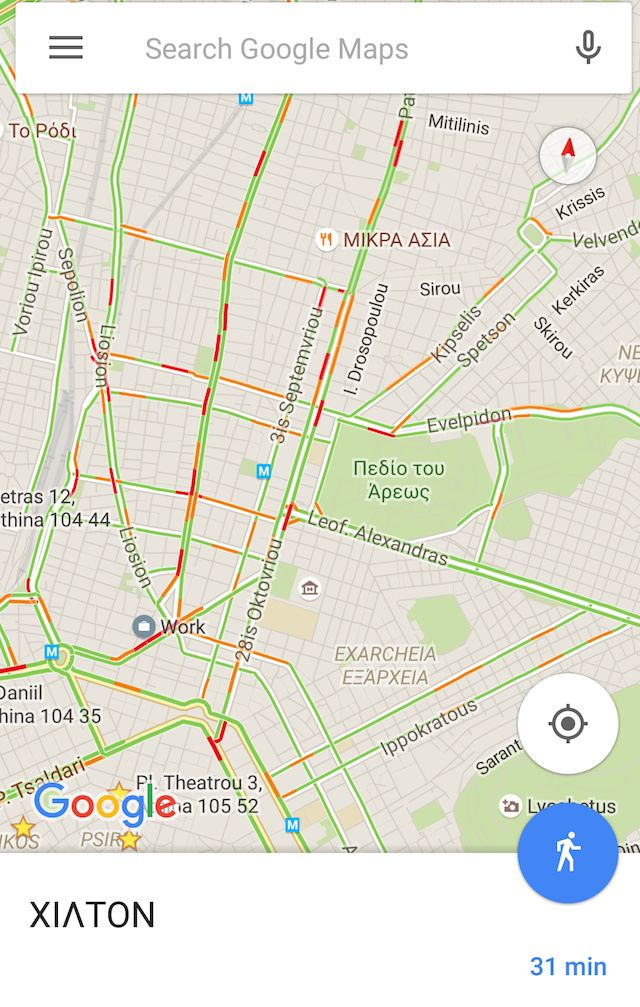 google maps traffic greece 1
