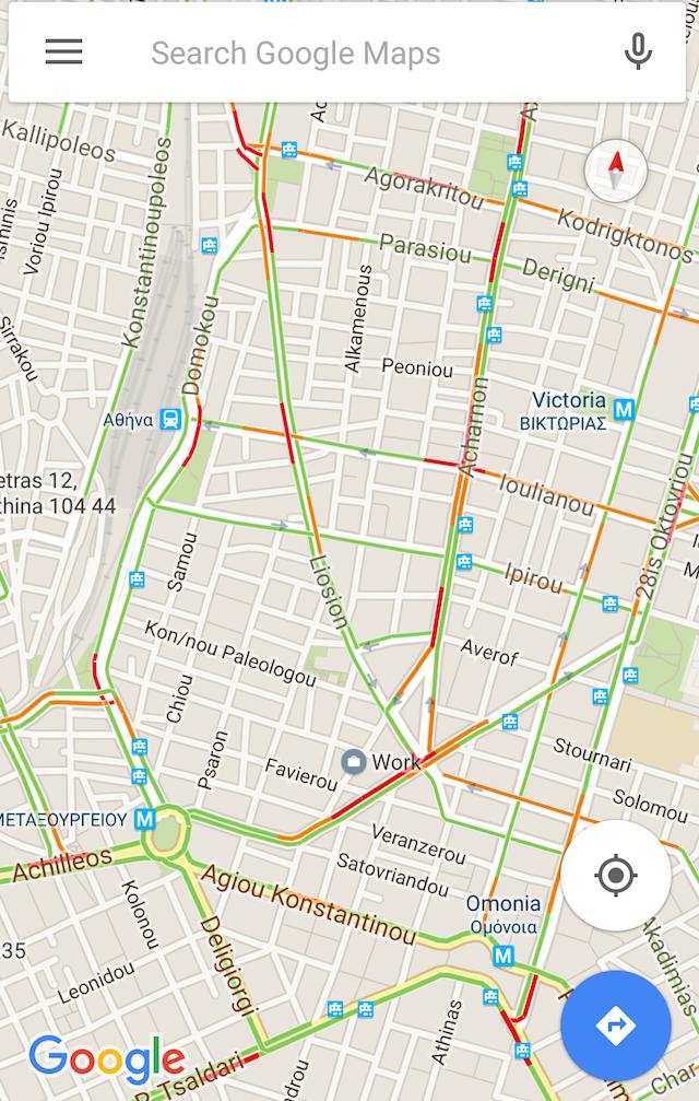 google maps traffic greece 2