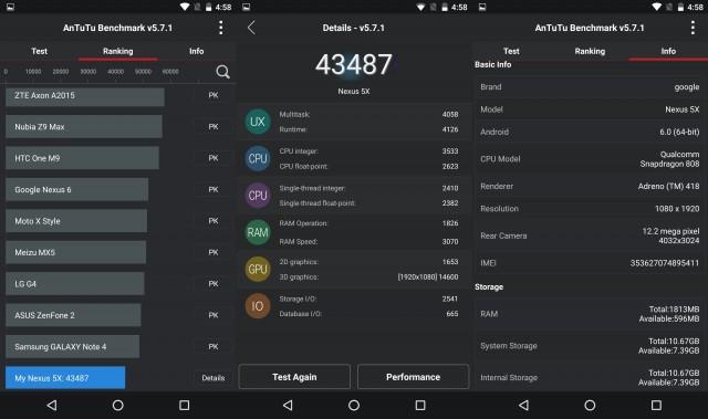 Antutu Benchmarking LG Nexus 5X