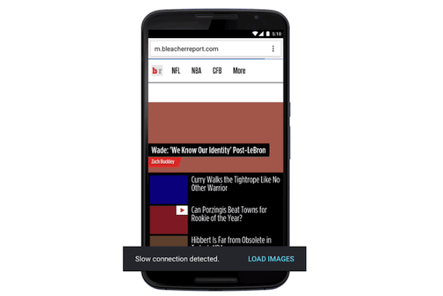 Chrome for Android data savings