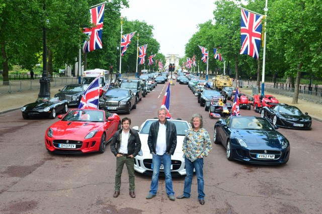 Episode 6 Picture shows: Top Gear on the Mall
