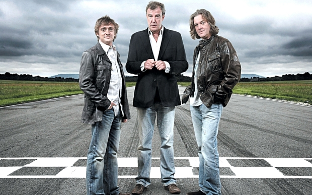 Mandatory Credit: Photo by ZUMA/REX (4524323a) Richard Hammond, Jeremy Clarkson, James May 'Top Gear' TV show promotional shoot, Britain - 2011