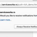 Firefox push notifications