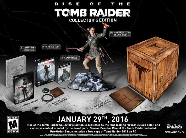 Rise of the tomb Raider collectors 1