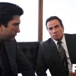 "THE PEOPLE v. O.J. SIMPSON: AMERICAN CRIME STORY ""From the Ashes of Tragedy"" Episode 101 (Airs Tuesday, February 2, 10:00 pm/ep) -- - Pictured: (l-r) David Schwimmer as Robert Kardashian, John Travolta as Robert Shapiro. CR: Ray Mickshaw/FX"