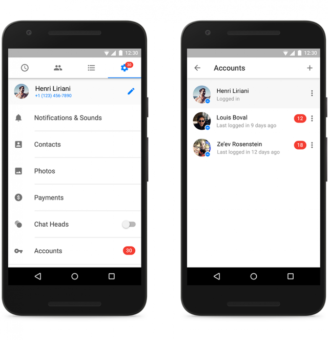 messenger multiple accounts
