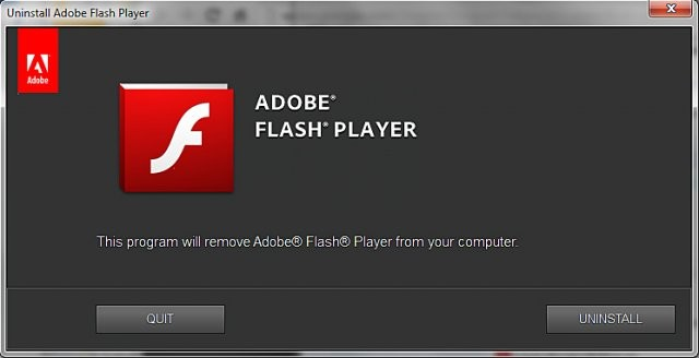 uninstall-flash
