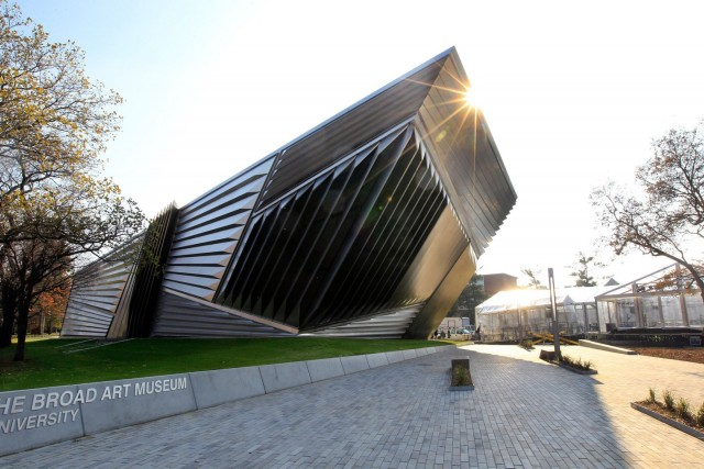 Eli and Edythe Broad Art Museum is seen on the campus of Michigan State University in East Lansing, Mich