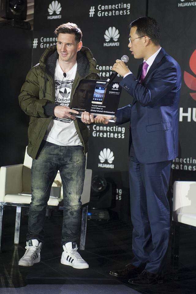 Messi Huawei Ambassador (1)