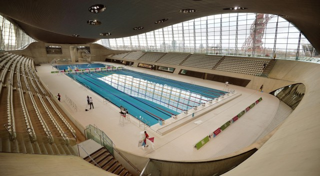 Zaha Hadid death. File photo dated 25/02/14 of the London Aquatics Centre built for the 2012 Olympic Games, as its architect Dame Zaha Hadid has died from a heart attack aged 65, her company has said. Issue date: Thursday March 31, 2016. See PA story DEATH Hadid. Photo credit should read: John Stillwell/PA Wire URN:25952963