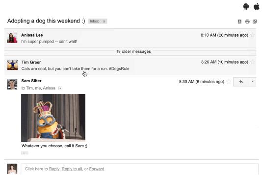 gmail mic drop