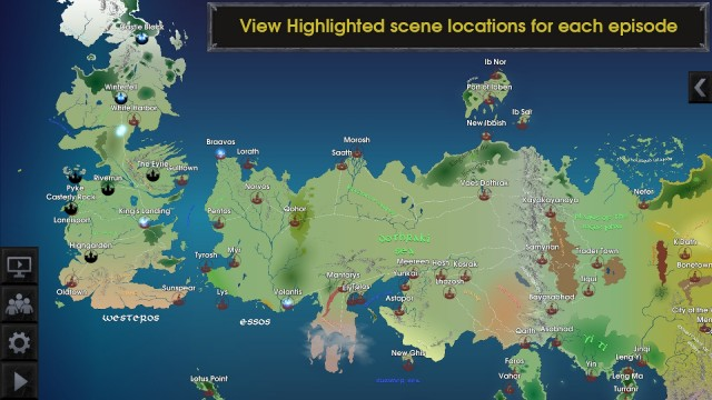 Map for Game Of Thrones4