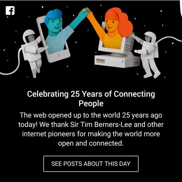 Το post του Facebook που τιμά τη φετινή Internaut Day