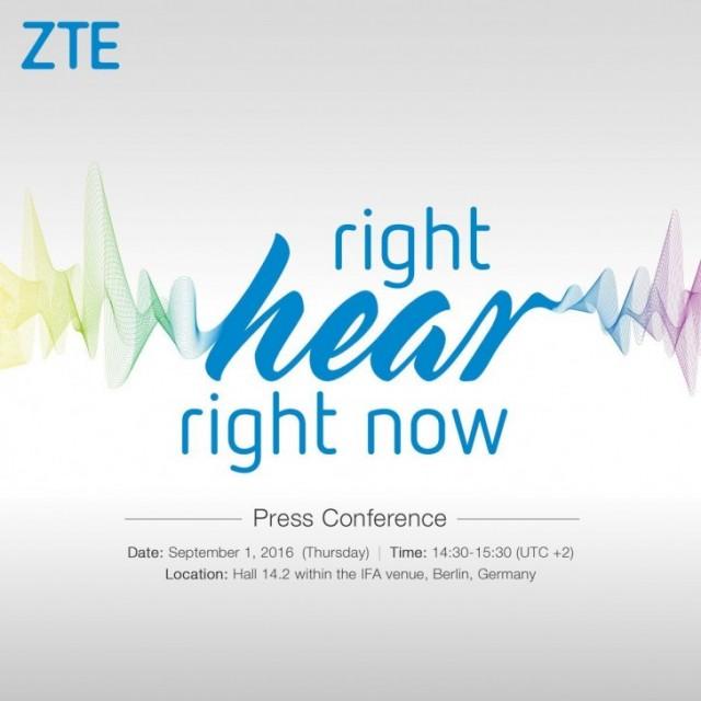 ZTE IFA 2016 Press Conference