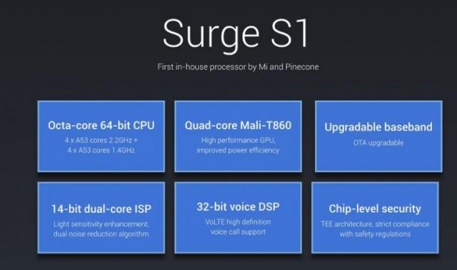 Xiaomi-Surge-S1-CPU-specs