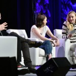 Mandatory Credit: Photo by REX/Shutterstock (8511025j) David Benioff, D. B. Weiss, Maisie Williams and Sophie Turner 'Game of Thrones' TV Series panel, SXSW Festival, Austin, USA - 12 Mar 2017