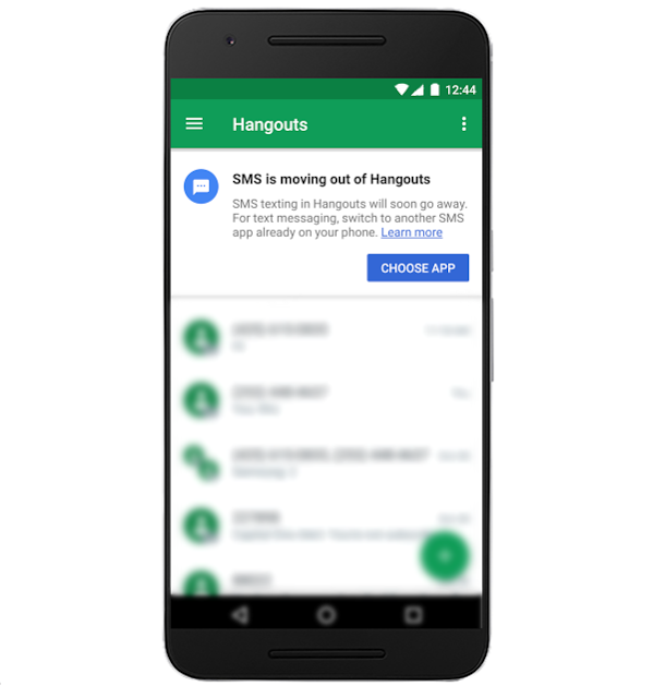 SMS Updates to Hangouts on Android