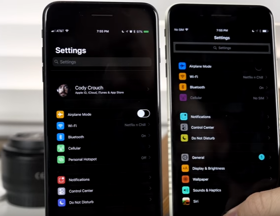 ios 11 dark mode