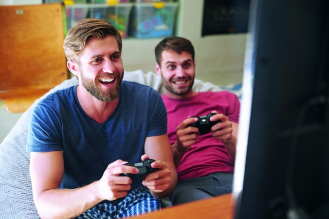 Two Male Friends gamers