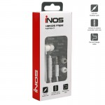 Hands Free Mono inos Flatron II with Small Earphones White