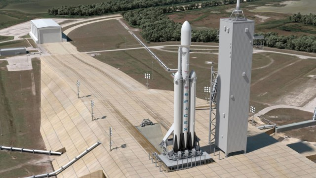 Rendering of a Falcon Heavy