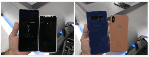 Galaxy Note8 and iPhone 8-2