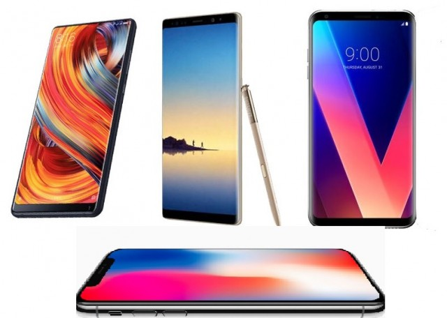 iPhone X - Samsung Galaxy Note 8 - LG V30 - Xiaomi Mi Mix 2 photos