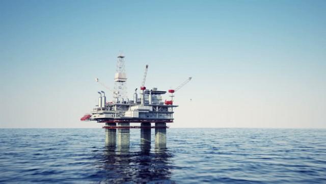 oil platform sea