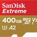 sandisk extreme 400GB microSD xc1 v30
