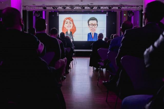 Tα Avatar των παρουσιαστών της εκδήλωσης για την παρουσίαση του Samsung Galaxy S9 I S9+, Μαρίας Κωνσταντάκη και Παναγιώτη Κουντουρά.