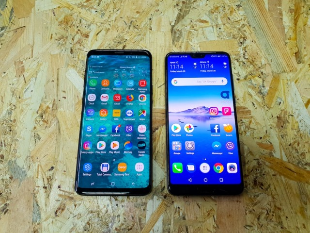 Huawei P20 Pro vs Samsung Galaxy S9 Plus 01
