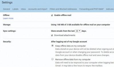 Gmail-offline-mail
