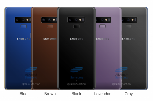 Samsung Galaxy Note 9 colors