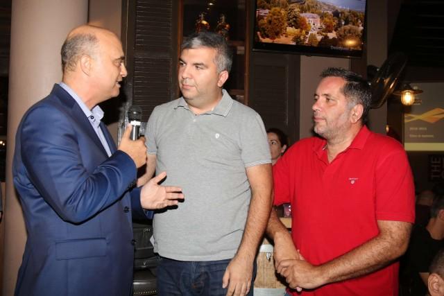 Ο Πανίκος Θεοδοσίου μαζί με τους Αλέξη Πάμπο και Άλκη Μπότσο