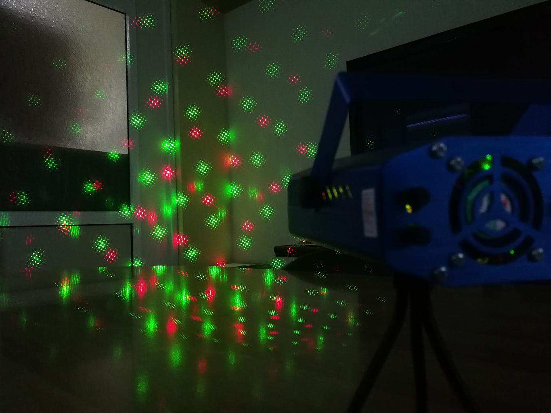 Strobo Laser Projector με κινούμενο φωτισμό πολλά σχέδια