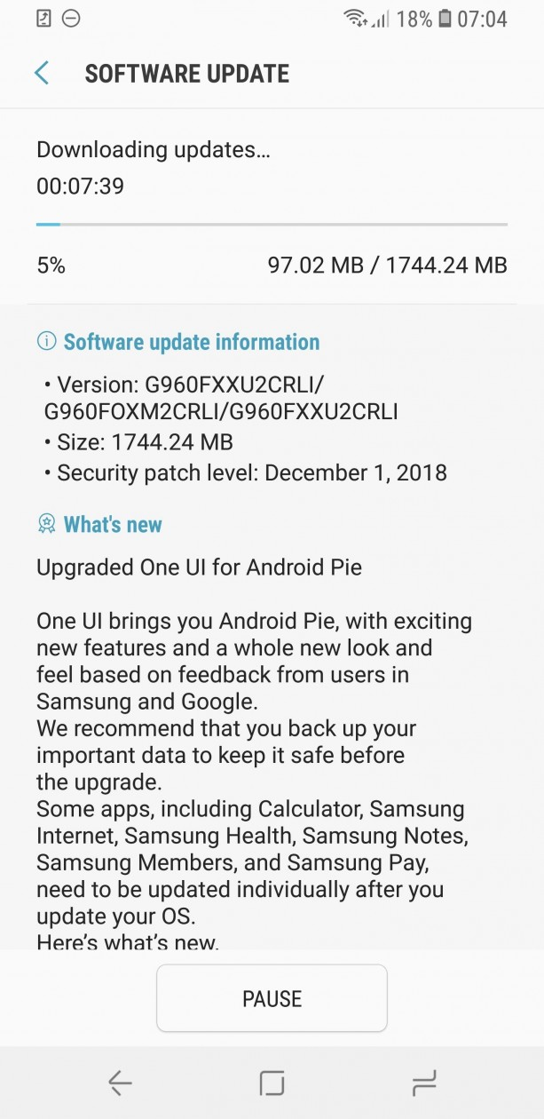 Samsung-Galaxy-S9-update