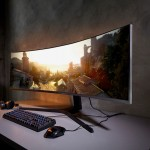 Samsung CRG9 super wide monitor