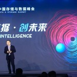 Huawei storage expert delivered a speech at the summit
