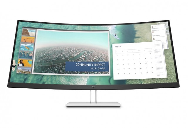 HP E344c Curved Monitor_Front