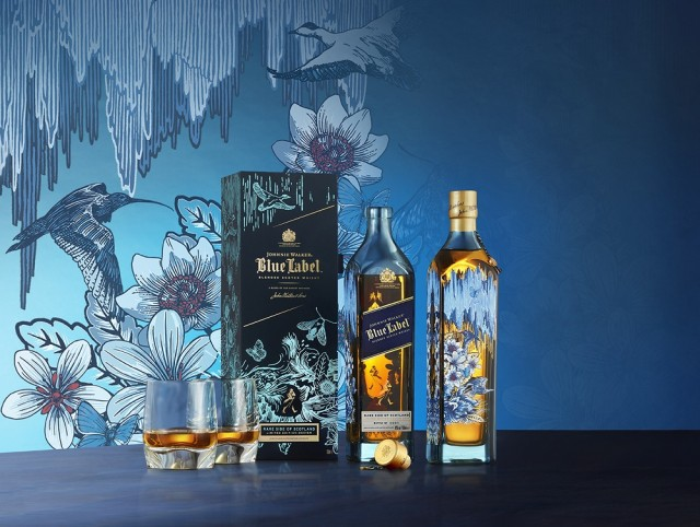 JOHNNIE WALKER BLUE LABEL RARE SIDE OF SCOTLAND (1)