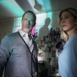"""A Human Face"" -- Pictured (l-r): Christopher Meloni as Robert and Jenna Elfman as Barbara of the CBS All Access series THE TWILIGHT ZONE. Photo Cr: Shane Harvey/CBS ©2020 CBS Interactive, Inc. All Rights Reserved."