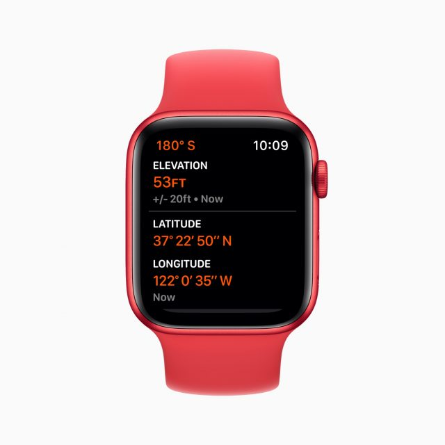 Apple watch series 6 aluminum red case altimeter 09152020