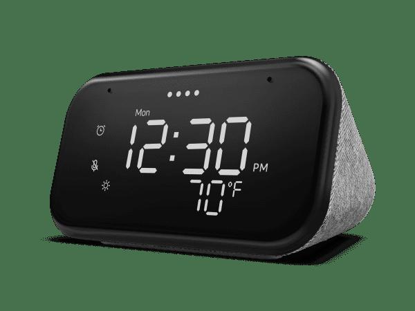 Lenovo Smart Clock Essential Front facing Left 600x450 1