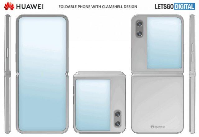 clamshell foldable HUAWEI
