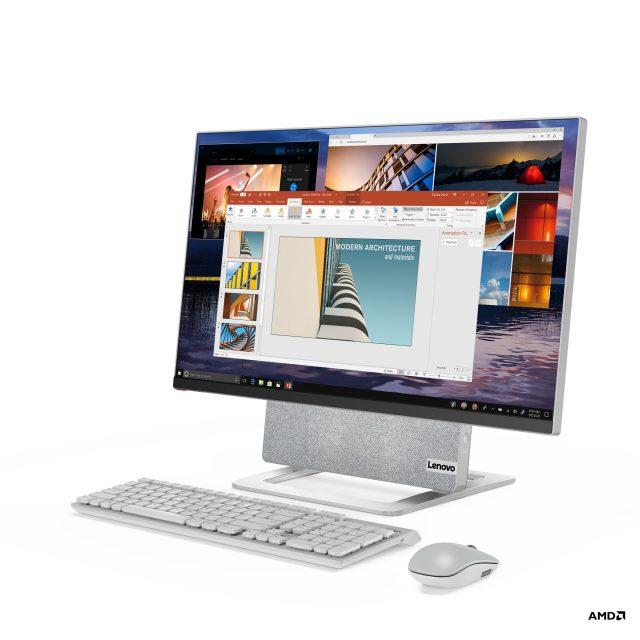 Lenovo Yoga AIO 7 Front Facing Left CES 2021 1