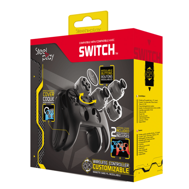 JVASWI00065 STEELPLAY MANETTE SANS FIL MODULABLE 2 COQUES SWITCH 1