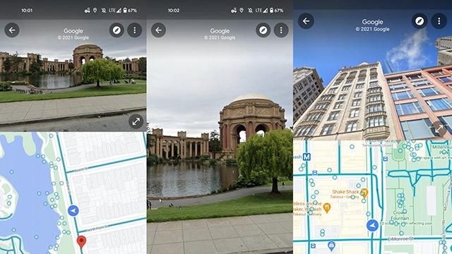 google maps split